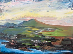 Original Abstract Landscape Painting of Scottish Highlands by British Artist