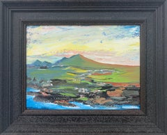 Original Abstract Landscape Painting of the Scottish Highlands by British Artist
