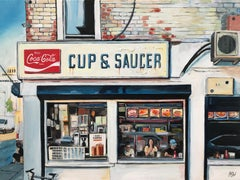Original Painting of American Diner New York City by British Urban Artist