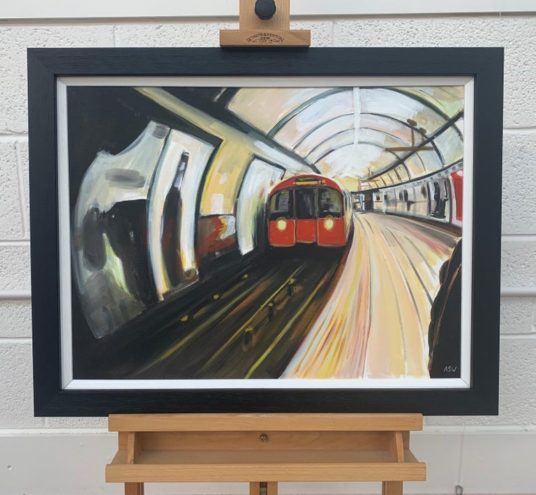 Original Painting of the London Underground by Leading Contemporary British Artist, Angela Wakefield   Art measures 24 x 18 inches Frame measure 27 x 21 inches   Angela Wakefield has twice been on the front cover of 'Art of England' and featured in