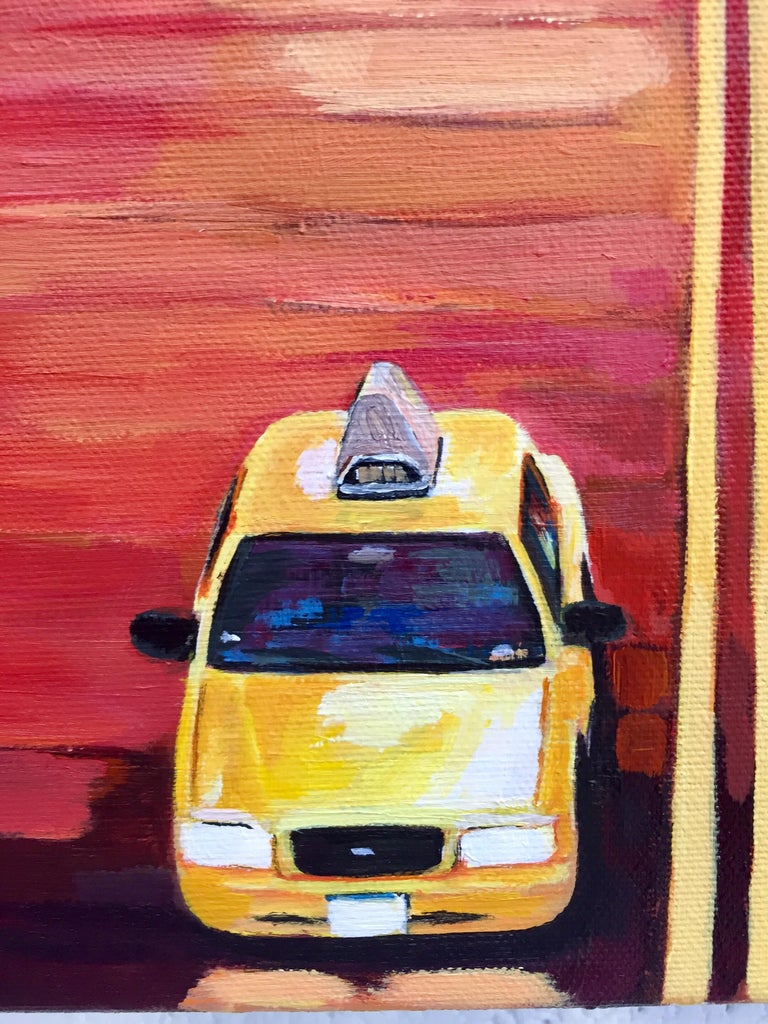 Painting of Chrysler Building 42nd Street New York by British Landscape Artist For Sale 5