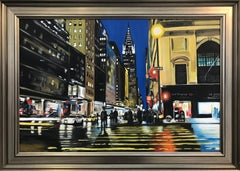 Painting of Chrysler Building New York City by Collectible British Urban Artist