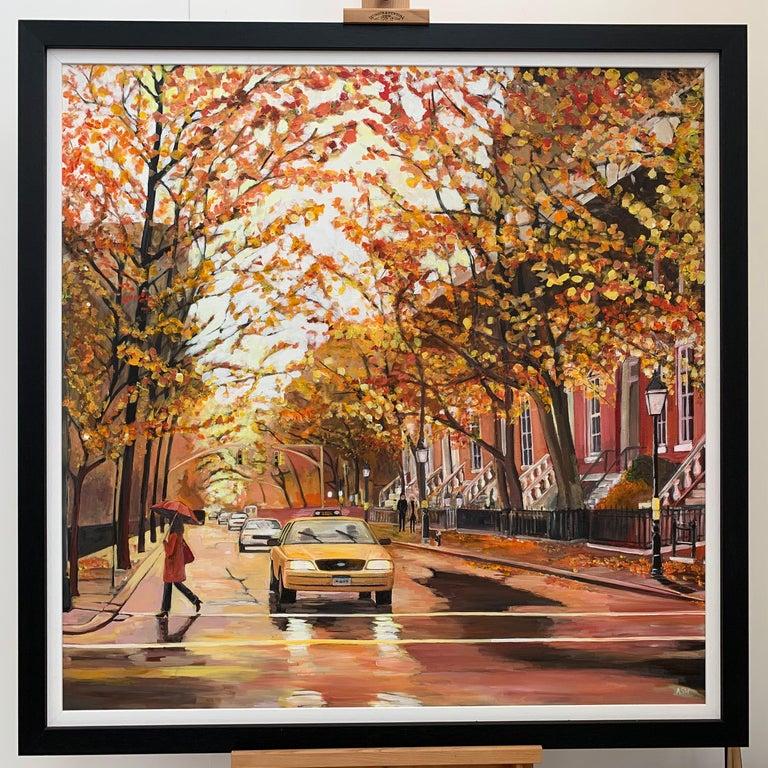 Painting of Greenwich Village Manhattan New York City NYC British Urban Artist 5