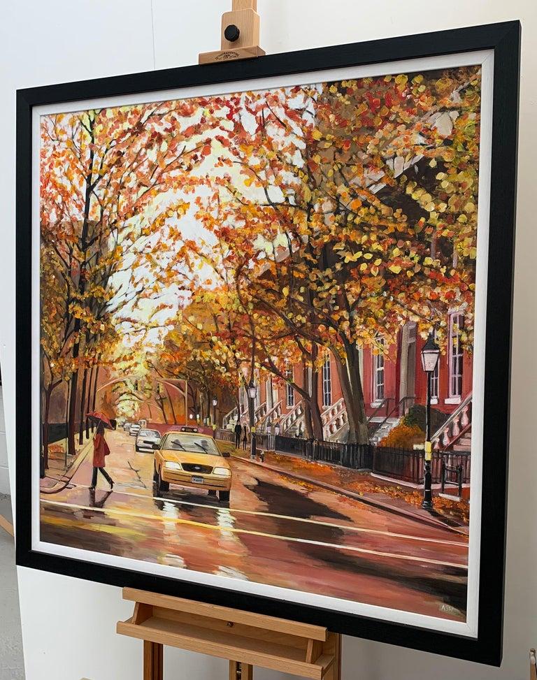 Painting of Greenwich Village Manhattan New York City NYC British Urban Artist 8