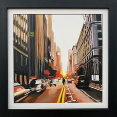 Painting of New York City in Autumn Fall by Leading Contemporary British Artist