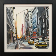 Painting of New York City in Winter by Leading Contemporary British Artist