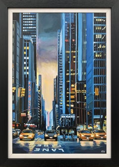 Painting of Radio City New York Manhattan NYC by British Urban Landscape Artist