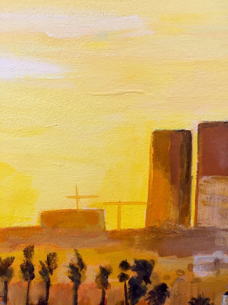 Painting of Sunset in Los Angeles California USA by British Landscape Artist For Sale 8