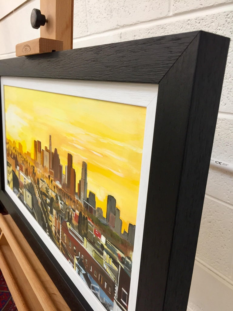 Painting of Sunset in Los Angeles California USA by British Landscape Artist For Sale 2