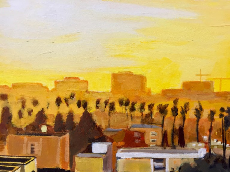 Painting of Sunset in Los Angeles California USA by British Landscape Artist For Sale 3