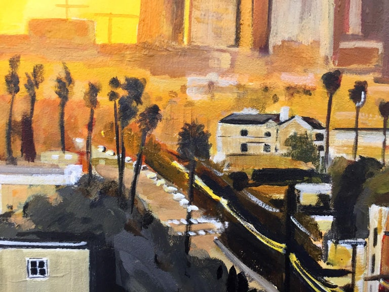 Painting of Sunset in Los Angeles California USA by British Landscape Artist For Sale 5