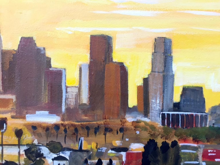 Painting of Sunset in Los Angeles California USA by British Landscape Artist For Sale 6