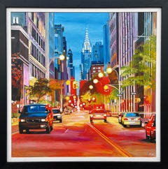 Painting of the Chrysler Building New York City by Contemporary British Artist