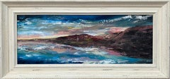 Panoramic Expressive Seascape of Devon Coastline by Contemporary British Artist