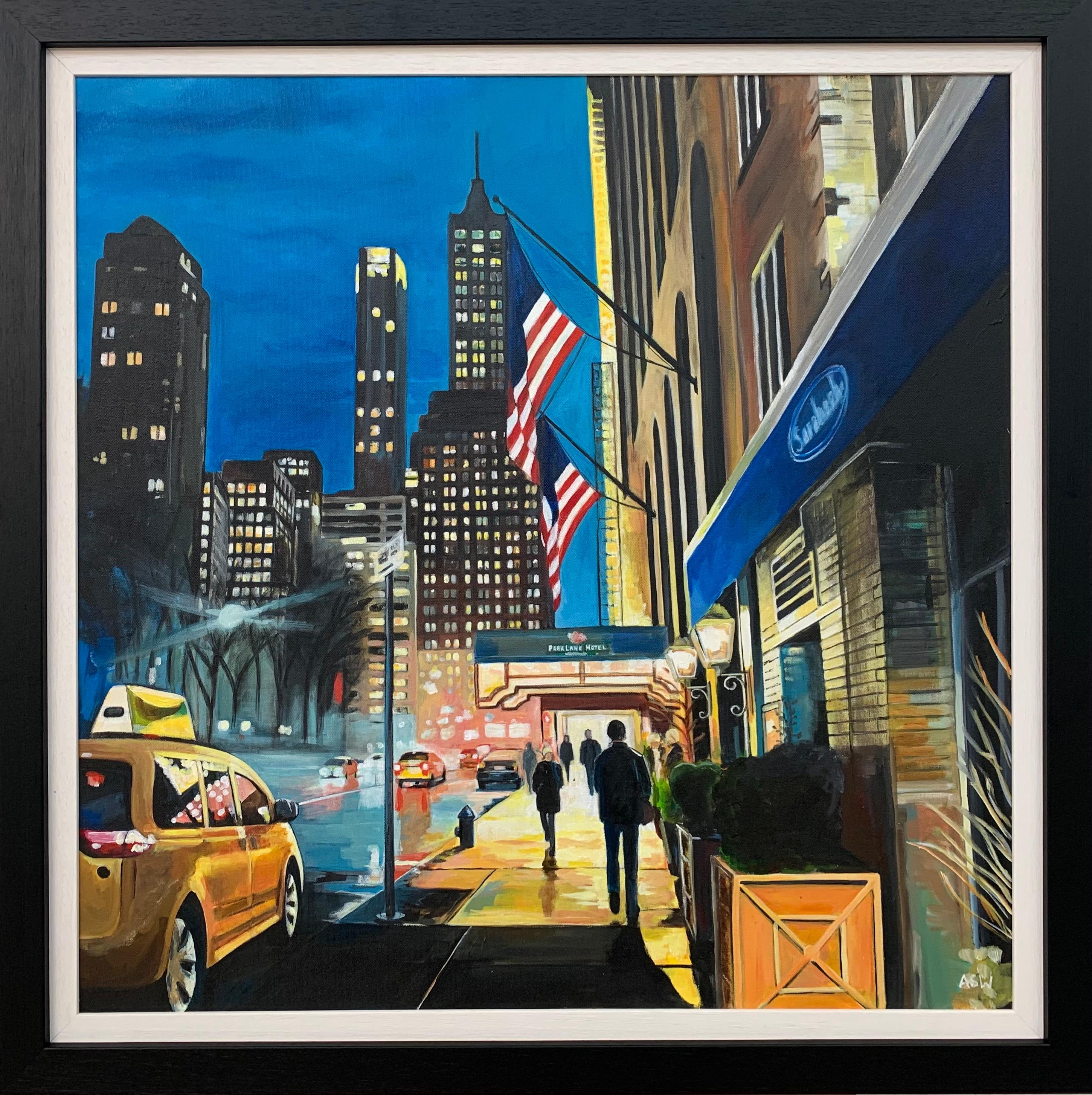 Park Lane Hotel Central Park New York City by British Contemporary Artist