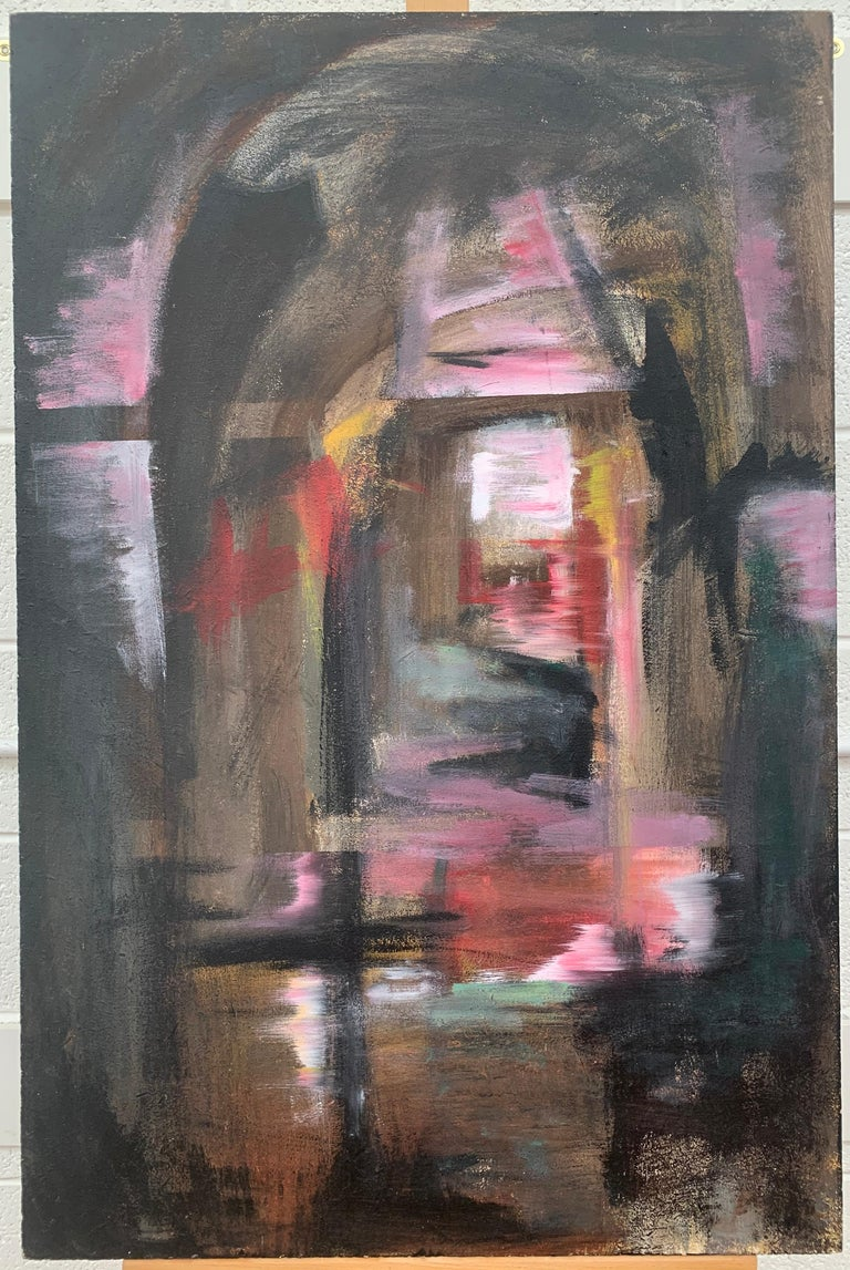 Railway Arches & Bridges Abstract Expressionist Art by Modern British Painter For Sale 1
