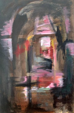Railway Arches & Bridges Abstract Expressionist Art by Modern British Painter