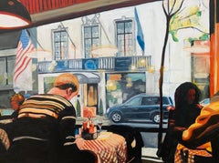 Still Life Painting of American Diner Interior New York City by British Artist