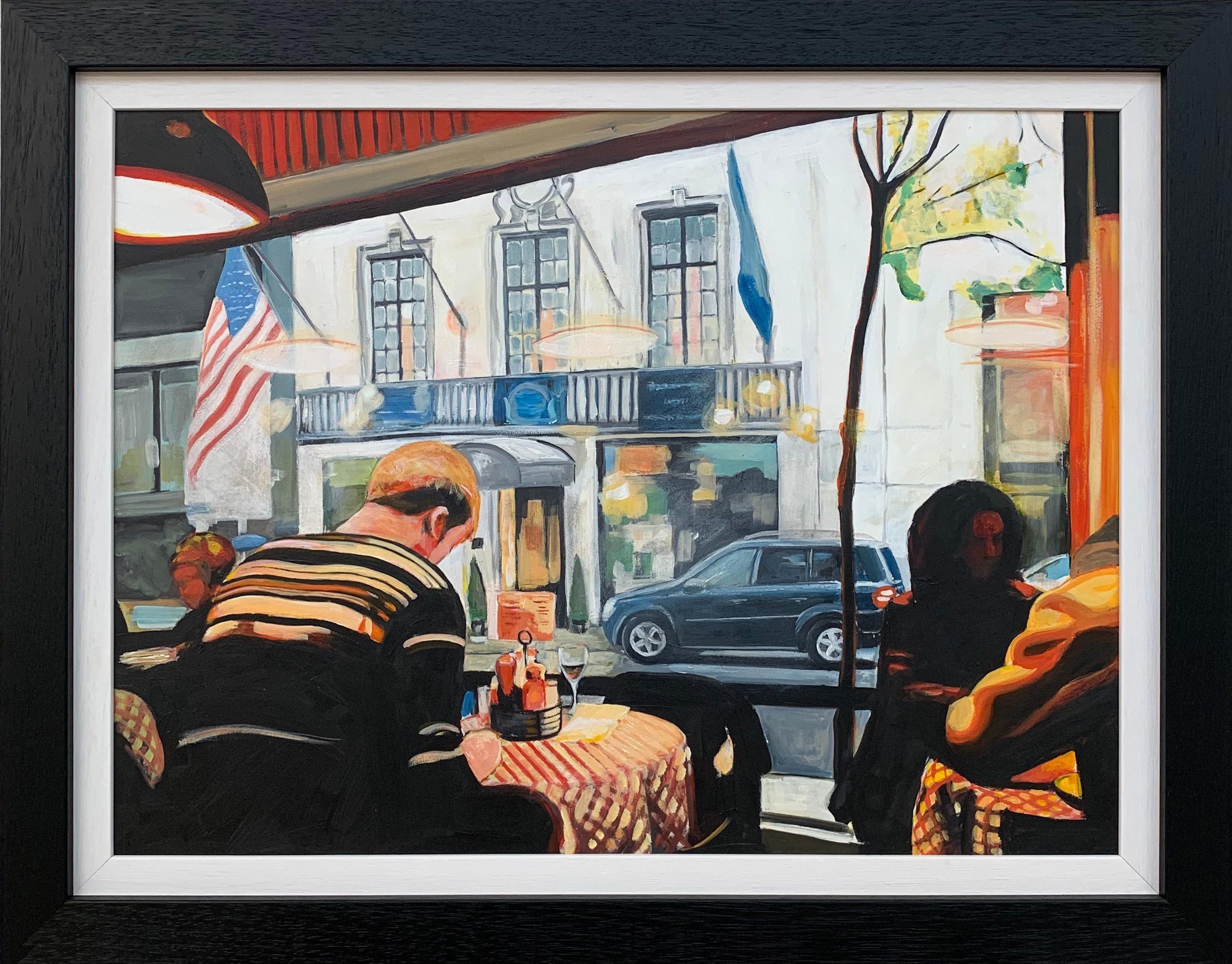 Still Life Painting of American Diner Interior New York City by British Artist