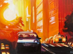 Street Study of Manhattan Henge Sunshine New York City by English Urban Artist