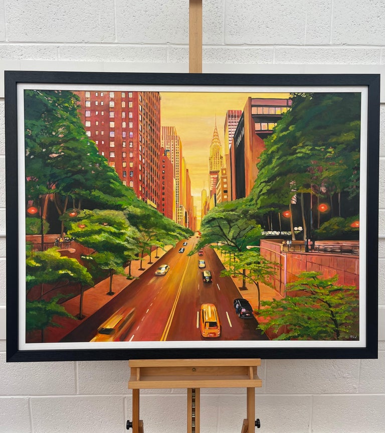 The Chrysler Building 42nd Street New York City by Contemporary British Artist For Sale 1