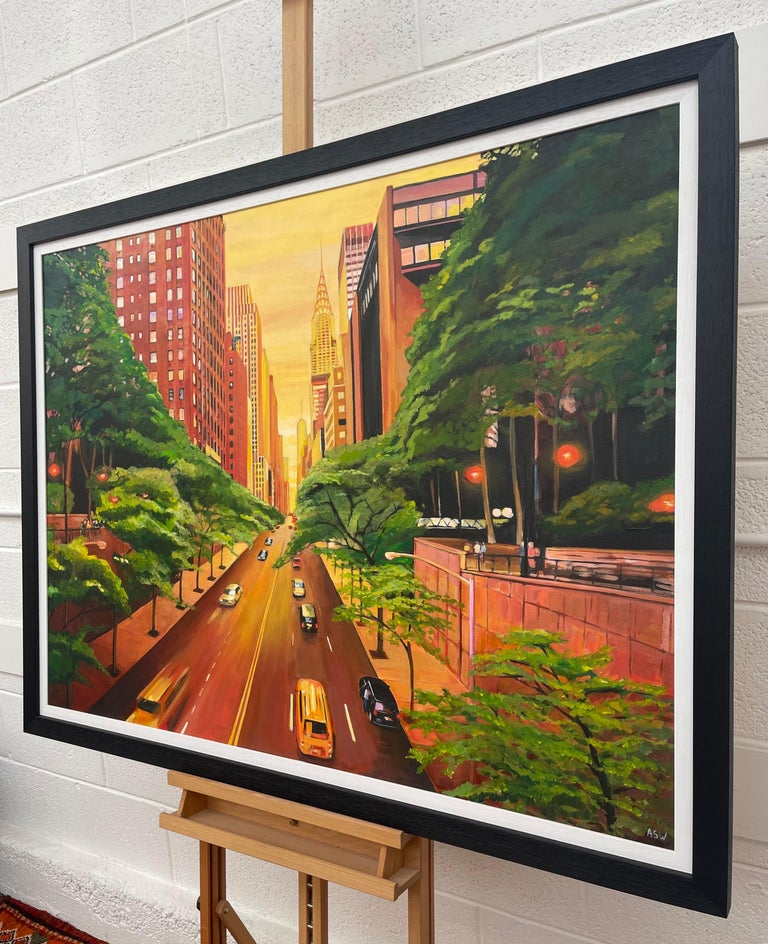 The Chrysler Building 42nd Street New York City by Contemporary British Artist For Sale 2