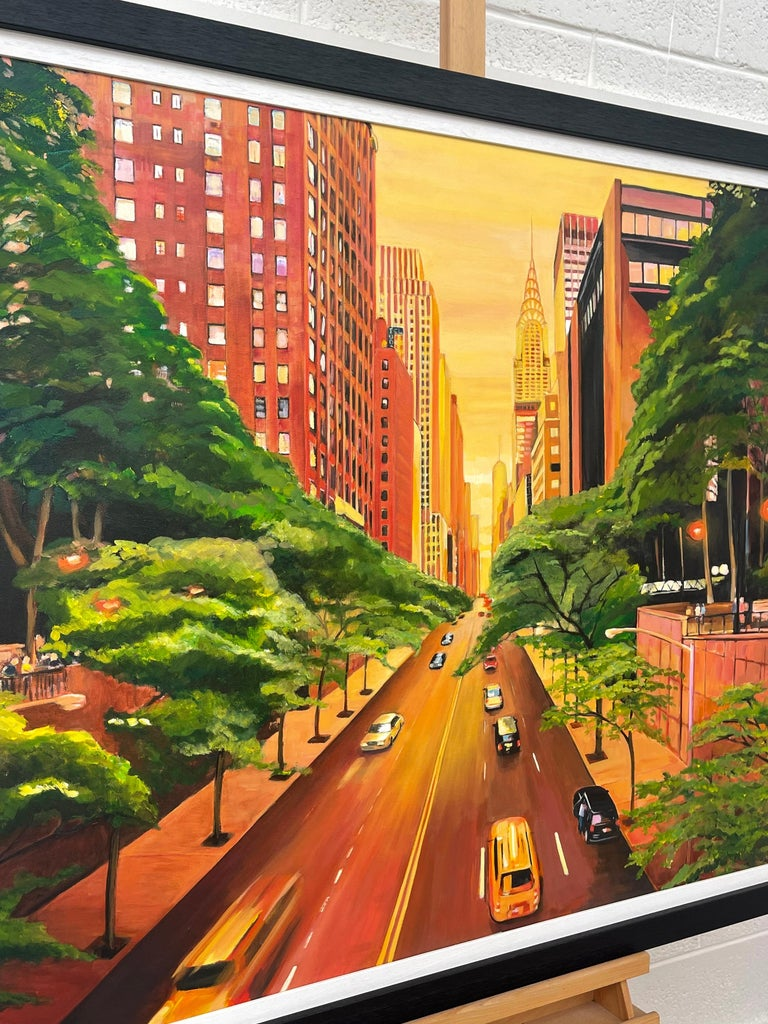 The Chrysler Building 42nd Street New York City by Contemporary British Artist For Sale 4