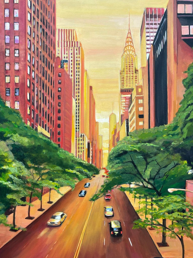 The Chrysler Building 42nd Street New York City by Contemporary British Artist For Sale 5