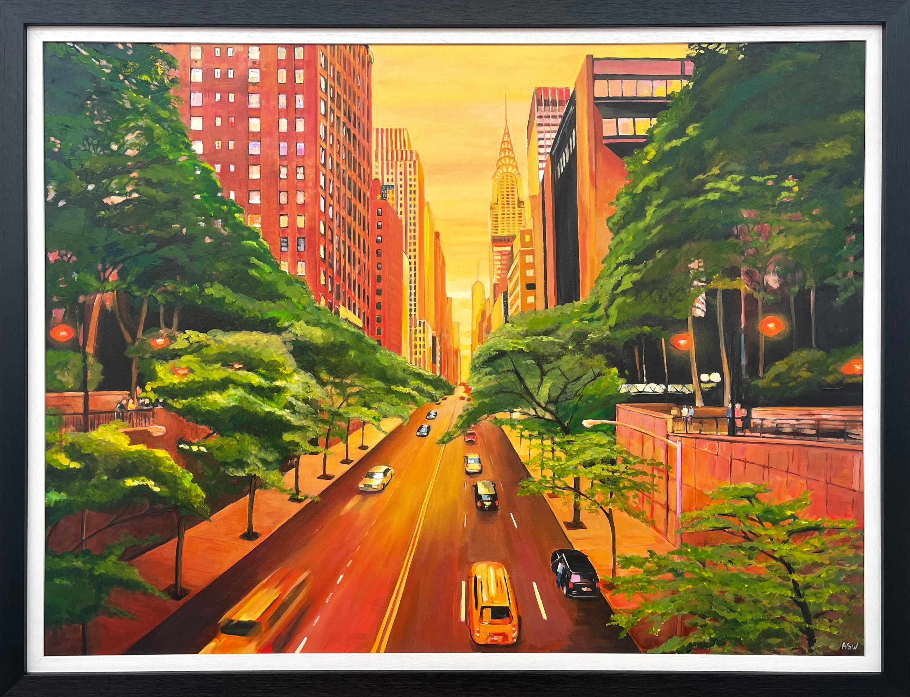 The Chrysler Building 42nd Street New York City by Contemporary British Artist
