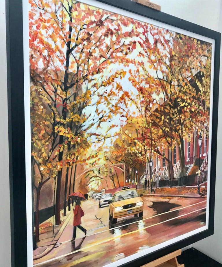 Painting of Greenwich Village Manhattan New York City NYC British Urban Artist 3