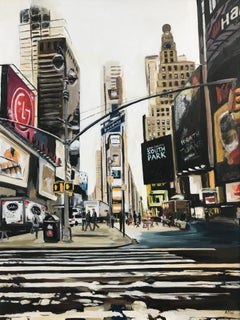 Times Square Broadway 7th Ave Midtown Manhattan New York City by British Artist