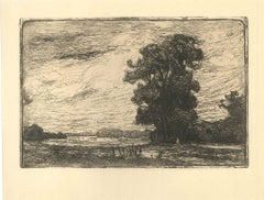 A Montigny-Beauchamp - Original Etching by A. Delasalle - 1911