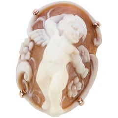 Angelic Cherub Cameo Rose Gold Sterling Silver Ring