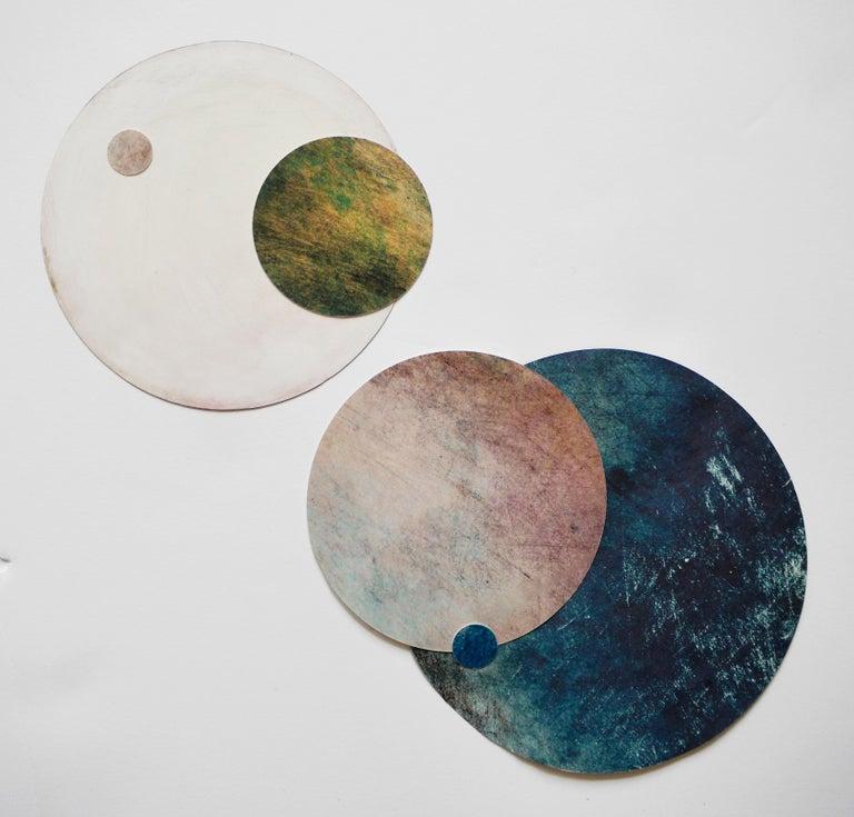 Cosmos #7 - Art Deco Mixed Media Art by Angelica Bergamini