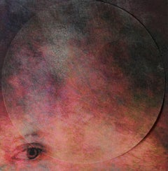 Mixed Media Collage with Eye: 'She Sang the Universe into Exisitence #7'