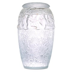 Angelique Lidded Glass Vase by Lalique