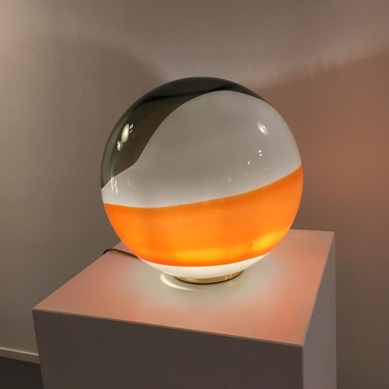 "Angelo Brotto ""Bolla"" Table Lamp for Esperia, Italy, 1980 For Sale 1"