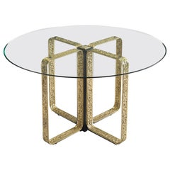 Angelo Brotto Centre Table in Brass and Glass
