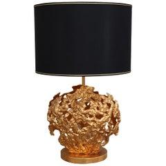 Angelo Brotto for Esperia Brass Contemporary Italian Table Lamp, 1980