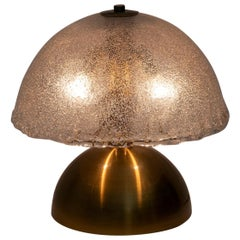 Angelo Brotto Mid-Century Italian Murano and Brass Table Lamp for Esperia, 1970s