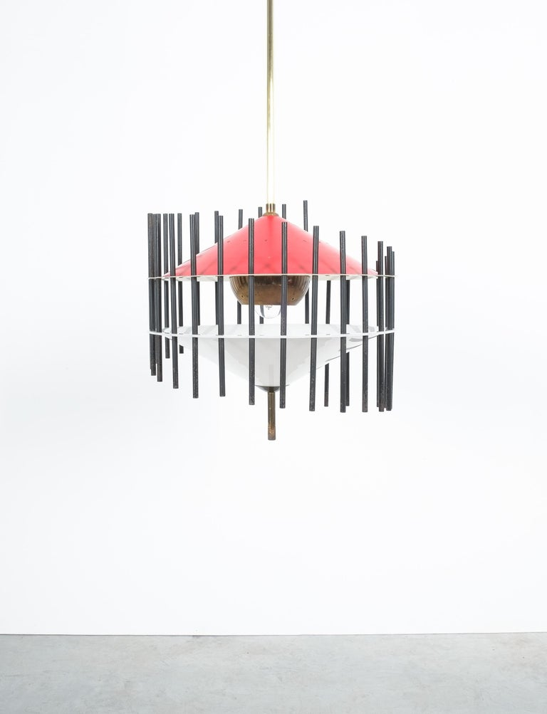 Mid-Century Modern Angelo Brotto Pendant Lamp for Esperia, Italy, circa 1955 For Sale