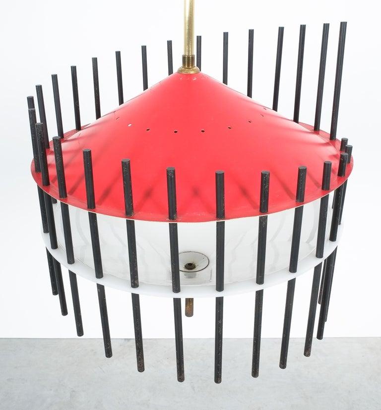 Italian Angelo Brotto Pendant Lamp for Esperia, Italy, circa 1955 For Sale