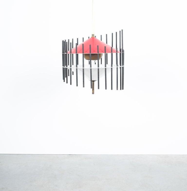 Acrylic Angelo Brotto Pendant Lamp for Esperia, Italy, circa 1955 For Sale