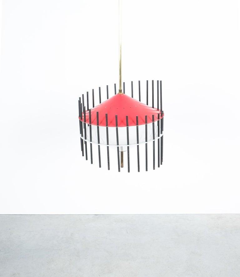 Angelo Brotto Pendant Lamp for Esperia, Italy, circa 1955 For Sale 1