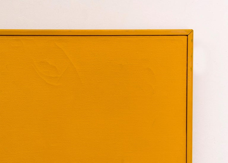 Orange on Orange #5 (Original Painting on Shaped 3 dimensional canvas) 2