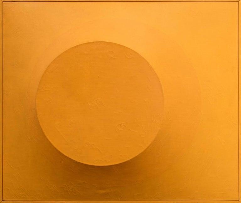 Orange on Orange #5 (Original Painting on Shaped 3 dimensional canvas) 3