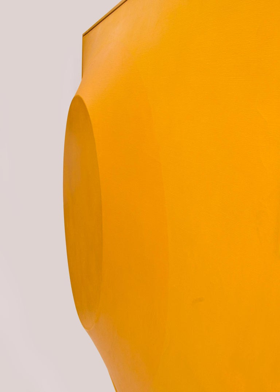 Orange on Orange #5 (Original Painting on Shaped 3 dimensional canvas) 4
