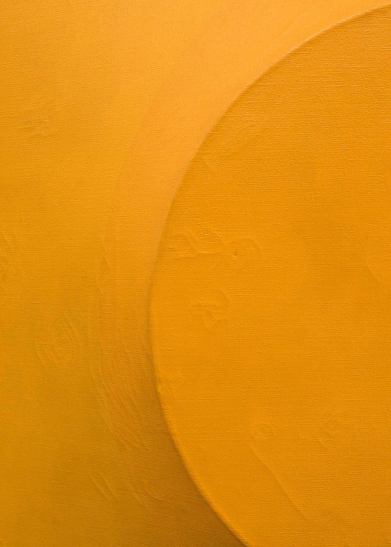 Orange on Orange #5 (Original Painting on Shaped 3 dimensional canvas) 5