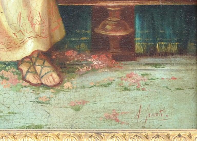 POMPEIAN SCENE - Angelo Granati Italian figurative oil on canvas painting For Sale 1