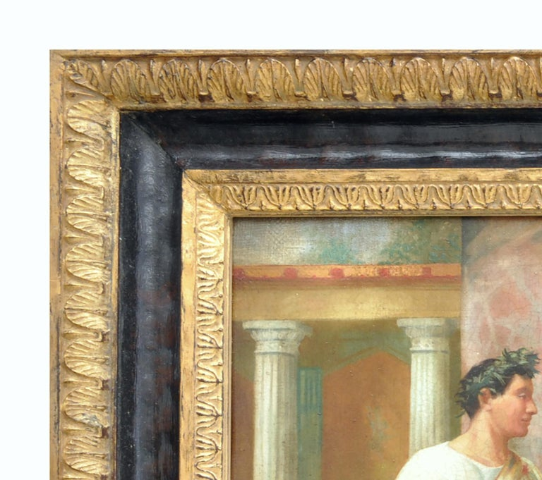 POMPEIAN SCENE - Angelo Granati Italian figurative oil on canvas painting For Sale 2
